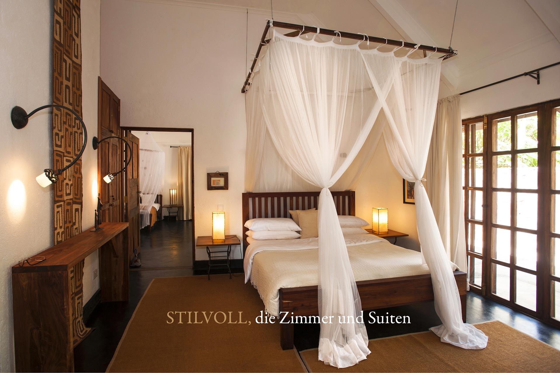 Stilvoll, die Zimmer und Suiten